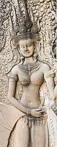 Bas-relief of Apsaras at Ankgor Wat-Angkor Wat-Cambodia