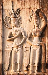Bas-relief of Apsaras-Angkor Wat-Cambodia