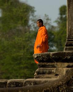 Buddhist monk at Ankgor Wat-Angkor Wat-Cambodia