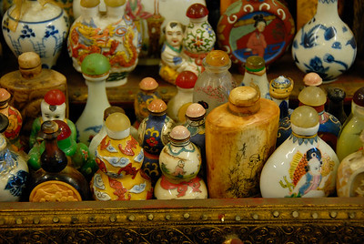 Display of antique bottles in shop-Chinese Settlement-Melaka-Malacca Town-Malaysia