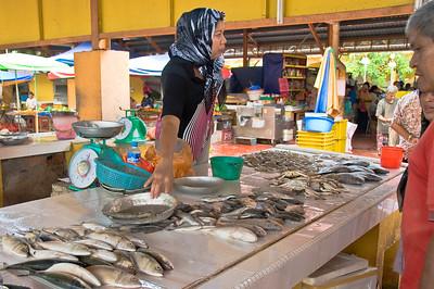 Female fish vendor-Market-Melaka-Malaysia