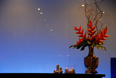 Arrangement of red flowers-Selangor Pewter-Kuala Lumpur-Malaysia