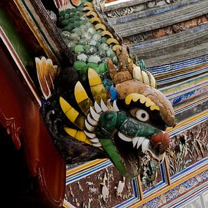 Ceramic dragon roof detail-Chinese Settlement-Melaka-Malacca Town-Malaysia
