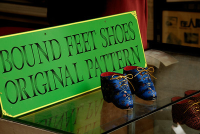 Shoe store selling shoes for bound feet-Chinese Settlement-Melaka-Malacca Town-Malaysia