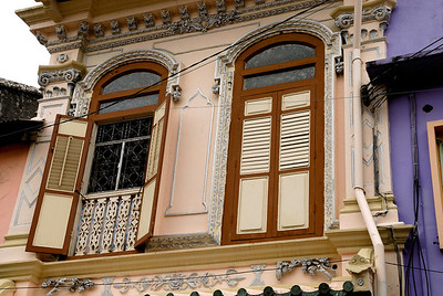 Second story windows-Chinese Settlement-Melaka-Malacca Town-Malaysia