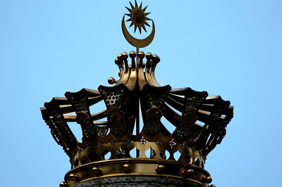 Crown silhoutted against the sky-Istana Negara National Palace-Kuala Lumpur-Malaysia