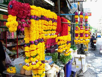 Flower Market Stall-Bangkok-Thailand