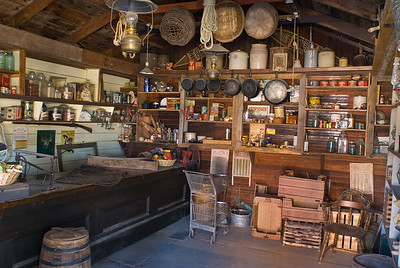 Interior of store at Gammons Gulch Ghost Town.  San Pedro Valley, Arizona.