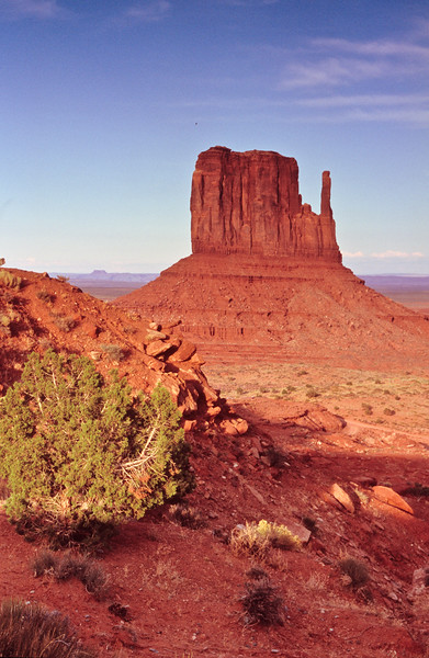 East mitten at sunset.   Monument Valley, Arizona.