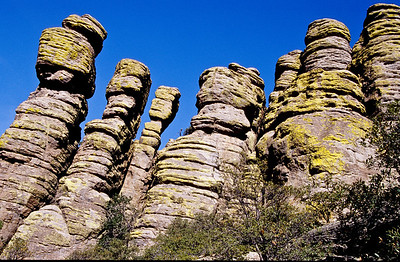 Standing rocks.  Chiricahua NM,  Arizona