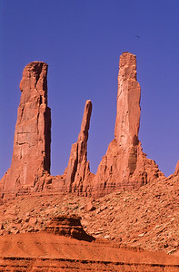 The Three Sisters.   Monument Valley,  Arizona