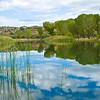 Lagoon looking east.   Dead Horse state park, Cottonwood, Arizona.