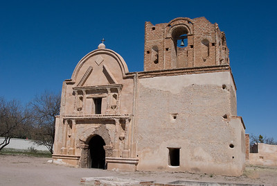 Tumacacori Mission was established in 1753.  Tubac, Cochise County, Arizona.