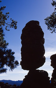 Balanced rock.  Chiricahua NM, Arizona.