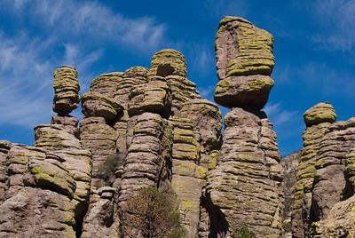 Rock formation.  Echo canyon trail, Chiricahua NM,  Arizona.