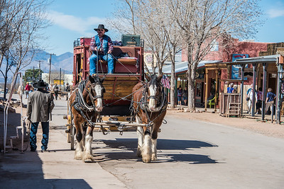 Stage on main street.  Tombstone, Arizona.