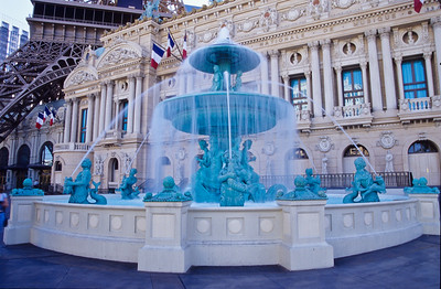 Waterfountain in front of Venesion casino.   Las Vegas, Nevada.