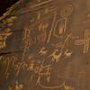 Petroglyphs.   Atlatl Rock loop road, Valley Of Fire SP, Nevada.