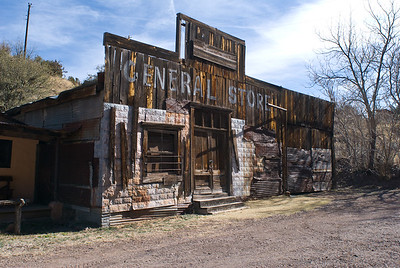 Abandon general store.  Mongollon,  New Mexico