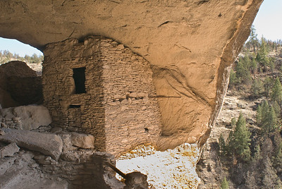 Cliff Dwellings.  Gila Cliff Dwellings NM, New Mexico