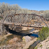 Abandon bridge over San Francisco River.  Ten miles north of Glenwood NM,  New Mexico.