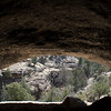 Cave containing several cliff Dwellings.  Gila Cliff Dwellings NM, New Mexico