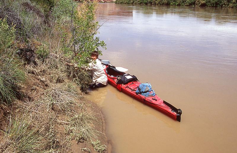 Dan stuck in the mud.  Cabin Bottom, Green River, Utah.  2005
