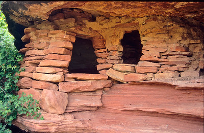 Indian ruins were numerous on both sides of the Green river.   Near Turks Head, Canyonlands NP, Utah.