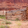 Abandon cowboy cabin.  Fort Bottom, Green River. Utah.