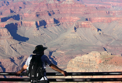 Stopping to stare because it really does look like a fake movie set.  Grand Canyon. September 2011.