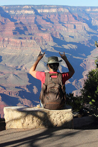 I'm really excited to be here - at the Grand Canyon. September 2011.