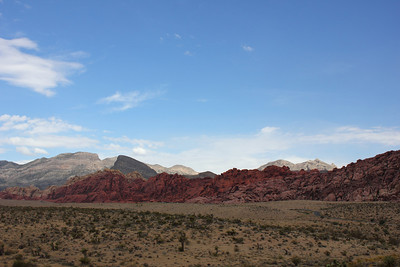 The view from behind the Red Rock Canyon Visitor's Center. - September 2011