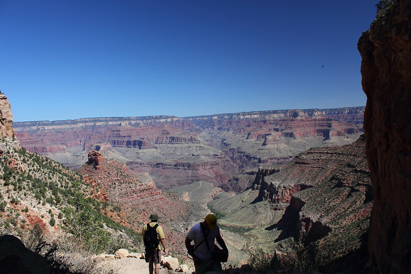 The view from Bright Angel Trail (below the rim) is stunning the whole way. Grand Canyon. September 2011.