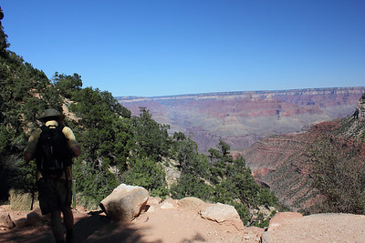 Bright Angel Trail and the view is stunning. Grand Canyon. September 2011.