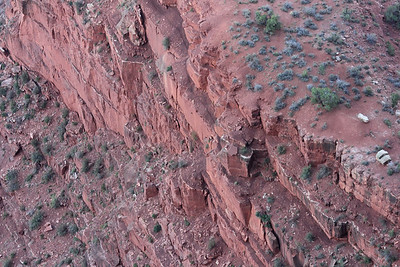 It's a long way down... For scale, each of those green blobs is a full-sized tree. Grand Canyon. September 2011.