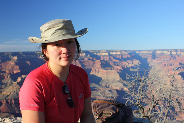 We've picked our spot and are waiting for sunset - at the Grand Canyon. September 2011.