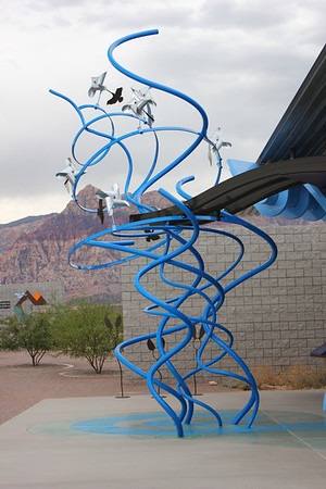 Interesting outdoor displays at the Red Rock Canyon Visitor's Center. - September 2011