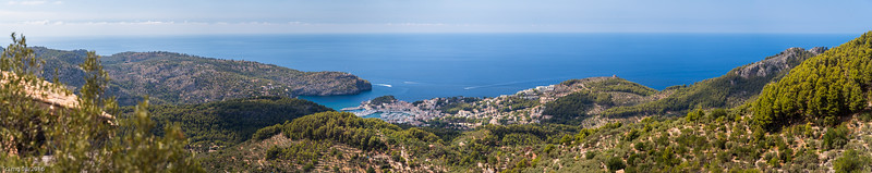 Toller Ausblick auf Port de Sóller / Great panoramic view to Port de Sóller