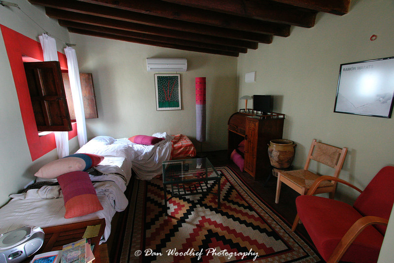 Well-used family quarters at the hotel La Casa Grande.