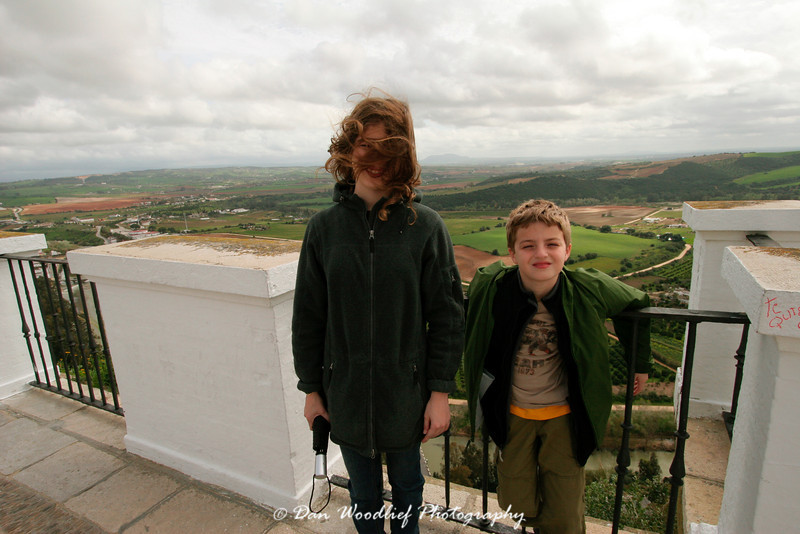 A bit windy on top of the hill.