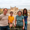 Family photo taken by a passing photographer. La Mezquita is in the background.