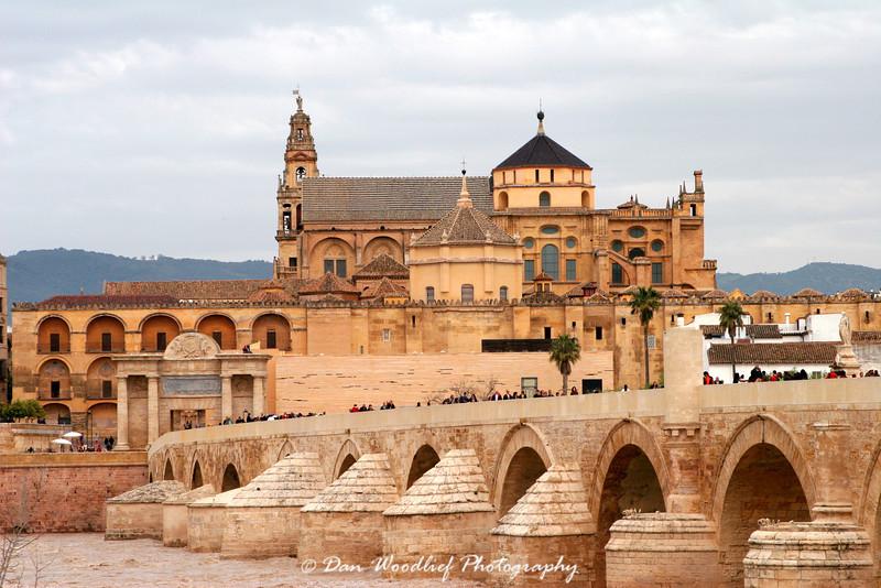 La Mezquita, the Roman Bridge, and the Guadalquivir River.