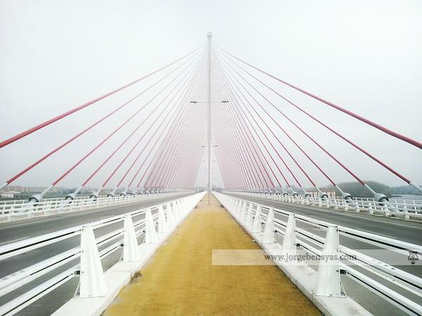 Niebla en el puente