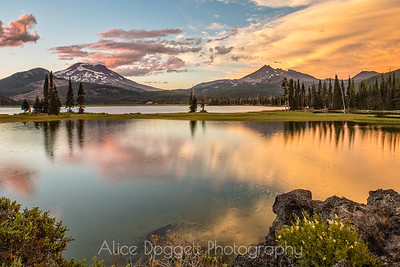 Sunset at Sparks Lake, Central Oregon Cascades