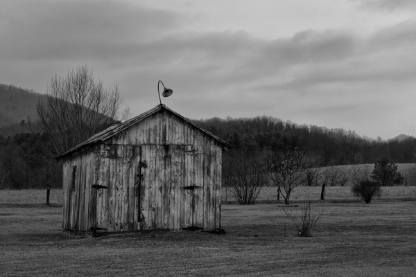 Old shed across the road from the distillery.