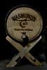 Small wooden keg in the Copper Fox Distillery.