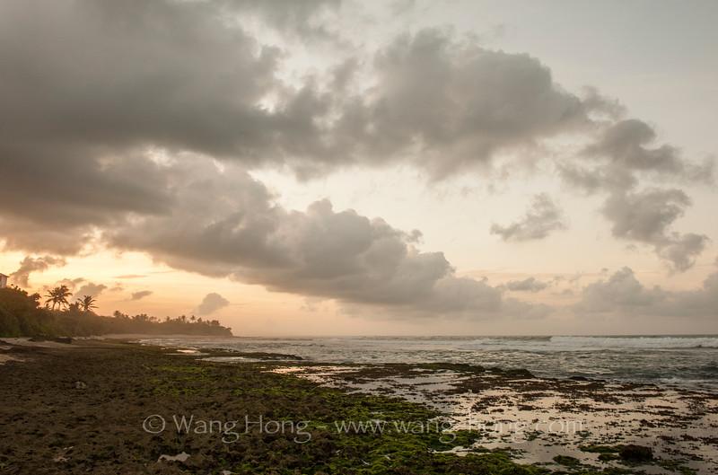 Sunrise on Mirissa Beach.