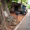 Bike rental place in Anuradhapura.