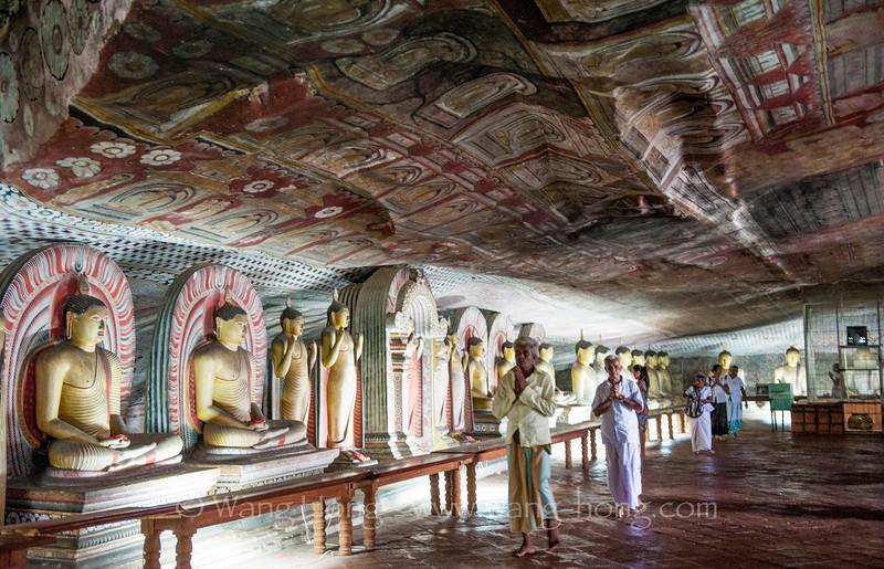 At Golden Temple of Dambulla.