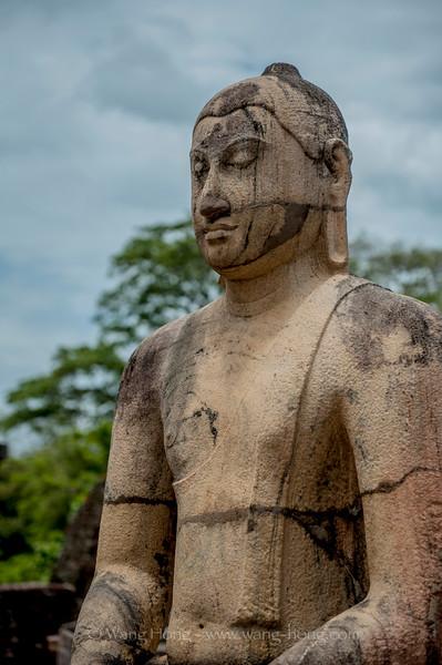 Buddha statue at Polonaruwa Vatadage.